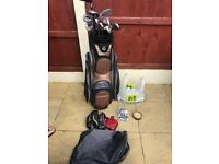 Full set Taylor made golf clubs and bag