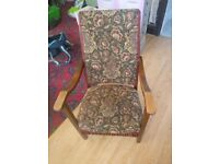 vintage chair and 3mtr of shell fabric