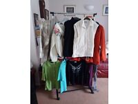 Assorted tops and cardigans size M L x 10