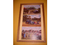 3 PICTURES IN A FRAME OF OLD TIME SCENES