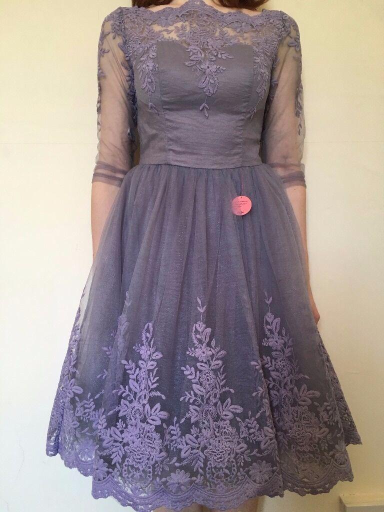 PRICE NEGOTIABLE*** Light Purple/Lilac Lace Midi Prom/Bridesmaid ...