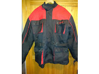 Waterproof Textile Armoured Motorcycle Jacket with Detachable Lining – XL