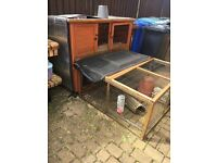 Large rabbit hutch and run.