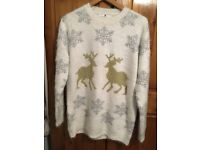 Sparkly and fluffy Christmas Jumper. Size 16. Excellent Condition