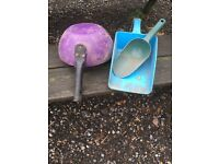3 animal feed scoops