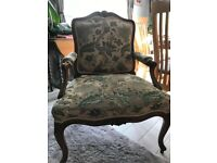 Upholstered sprung period chair