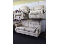 Neww g plan cream suite with electric recliner chair cream
