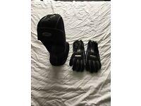 Waterproof hood and gloves