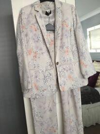 M&S Silky Trouser Suit Size 12