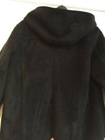 £10 thick black jacket with hood