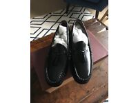 G. H. Bass & Co black leather shoes UK 8