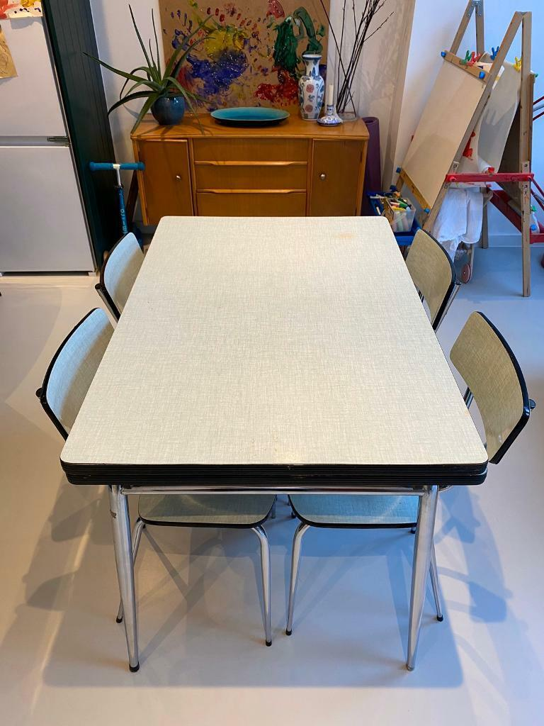 Mid Century Vintage Formica Table And Chairs In Haringey London