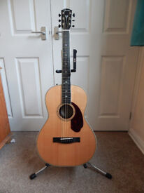 Fender PM-2 Paramount Deluxe Parlour Electro Acoustic - with Hard Case