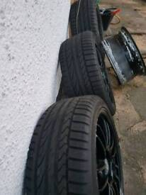 3X TYRES AND RIMS. EVENT 225/40R18 EXTRA LOAD.