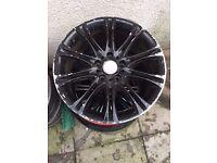 "Bmw Mv2 18"" Alloy Wheel Black Can Post"