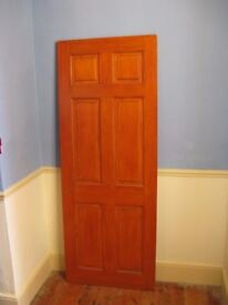 Solid pine door- stained and varnished