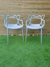 Pair of Phillip Starke Masters Chairs Kartell