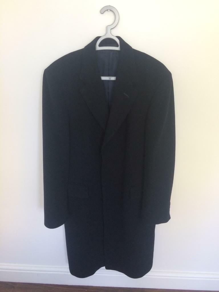 T.M.Lewin Men's Winter Coat (100% wool). Navy. 36R