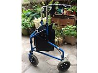 Mobility walker with wheels, blue and in good working order- buyer collects