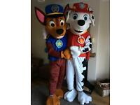 Paw Patrol Mascot Costume Hire & Photo Booth Hire