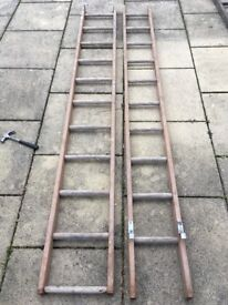 Extendable wooden ladders for sale (£20 each)
