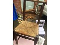 Chair for bedroom with Sea grass seat old