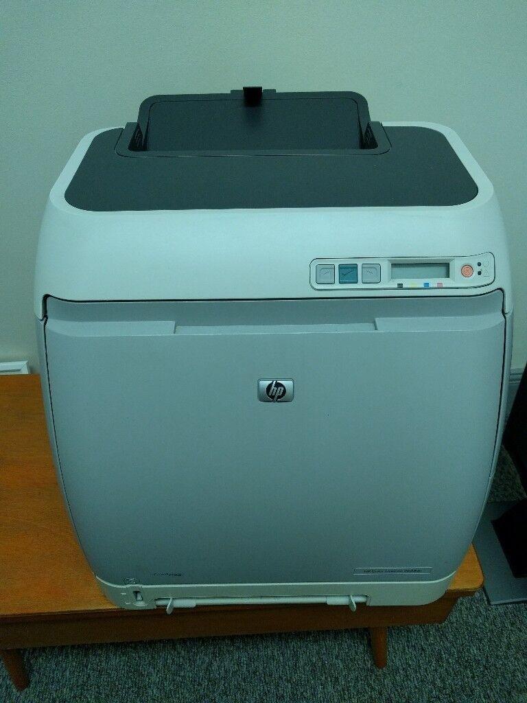 HP Duplex Laserjet 2605dn Printer with 4 official HP ink cartridges