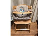 Hauck alpha high chair with padded insert
