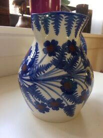 Vase (blue and red floral motif)