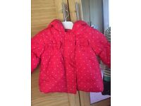 Bluezoo Girls Coat 3-6 months