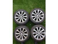 """VW Polo Wheels - 4 X 16"""" Rims - 195/50/R16 - Good Tyres - £200"""