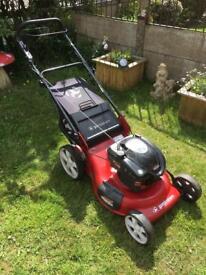 Petrol lawn mower serviced self propelled