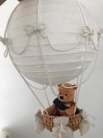 Hot air balloon Light shade with Winnie teddy