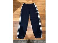BOYS ADIDAS 3 STRIPE TRACKSUIT BOTTOMS AGE 9-10 years