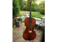 Andreas Zellor Stentor 3/4 size vintage Cello