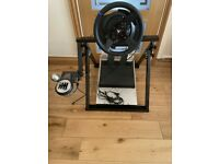 Thrustmaster T300 RS, T3PA pedal set, TH8 shifter and Next Level Racing stand