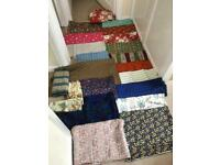 Collection / bundle of vintage fabric