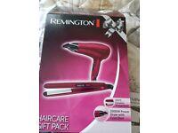 hair dryer and straightener set