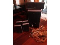 Sony surround sound speakers and super woofer no Amp