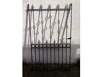 Cast iron decorative black and gold entrance gate 70x44 inches