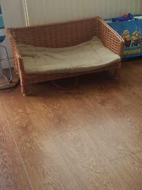 Brand new dog wicker basket