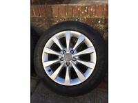 """Audi A6 17"""" 10 Spoke Alloys with branded tyres - will suit some other VAG motors"""
