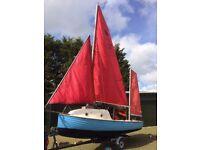 Devon Dayboat 16ft Sailing + Outboard Motor +Trailer