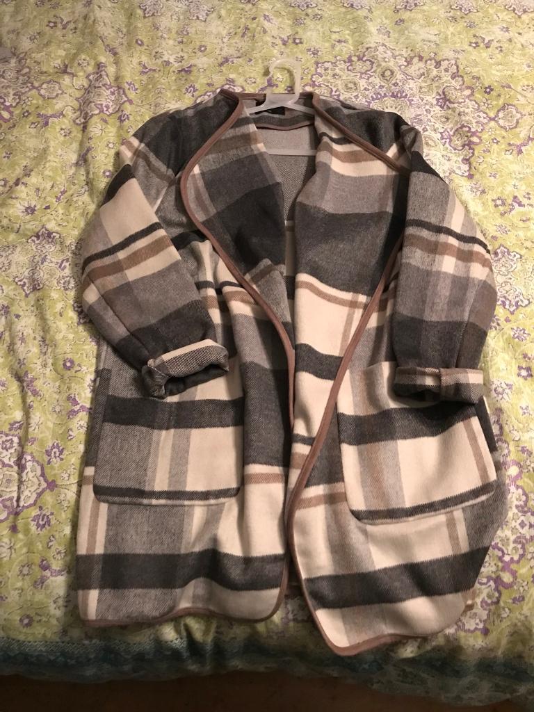Grey cardigan coat size 16