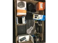 Job Lot Miscellaneous items include Apple A1379 superdrive, Radio, Pure Jongo wifi, Esynic Keyboard