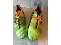Mens Adidas Nitrocharge 1.0 TRX FG Lime Green Performance Football Soccer Boots