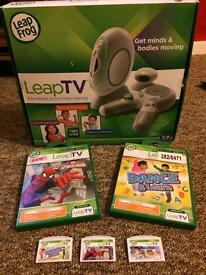 Leap tv and 3 games