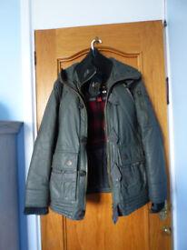 superdry medium double zip winter jacket waterproof/windproof