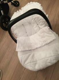 Car seat cover (white)