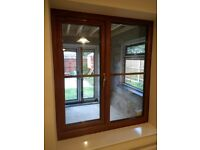 UPVC Double Glazed Oak Window